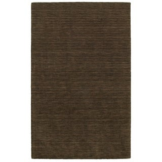 Handwoven Wool Heathered Brown Area Rug (8' x 10')
