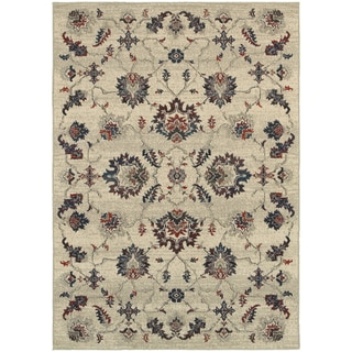 Global Influence Floral Traditional Beige/ Multi Area Rug (9'10 x 12'10)