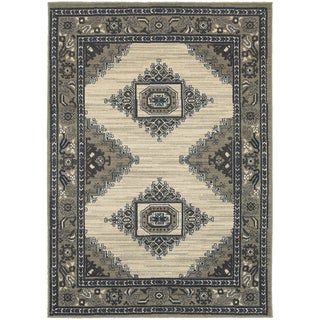Global Influence Persian Beige/ Grey Area Rug (9'10 x 12'10)