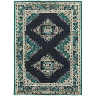 Global Influence Persian Blue/ Ivory Area Rug (9'10 x 12'10)