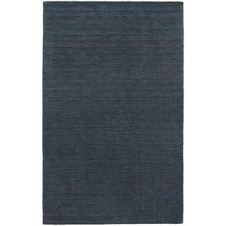Handwoven Wool Heathered Navy Area Rug (10' x 13')