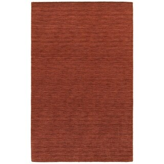 Handwoven Wool Heathered Red Area Rug (10' x 13')