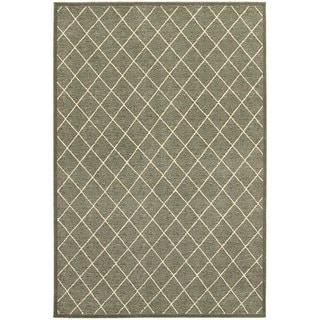 Diamond Trellis Heathered Grey/ Ivory Area Rug (9'10 x 12'10)