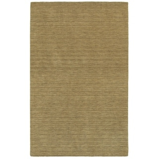 Handwoven Wool Heathered Gold Area Rug (10' x 13')