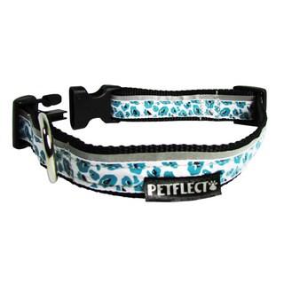 Petflect Turquoise Cheetah Reflective Dog Collar