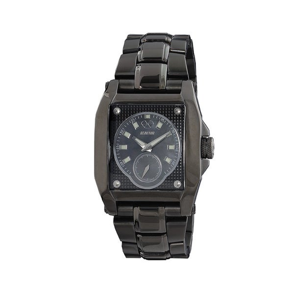 Reactor 95001 Men's Fusion Full Size Black IP Stainless Steel Watch
