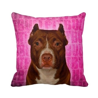 Pit Bull Grunge 16-inch Throw Pillow
