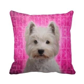 West Highland Terrier Grunge 16-inch Throw Pillow