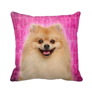 Pomeranian Grunge 16-inch Throw Pillow