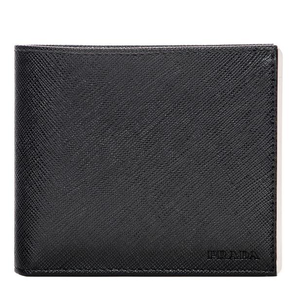 Prada Men\u0026#39;s Metal-Edge Saffiano Leather Wallet - 17702217 ...