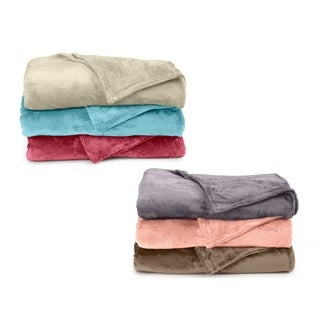 Home Fashion Designs Valerie Collection Ultra Velvet Plush Super Soft Fleece Luxury Blanket in Solid Colors