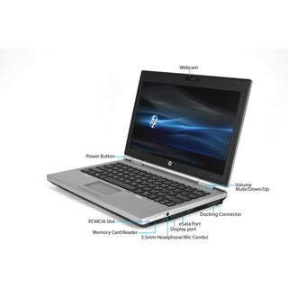 HP EliteBook 2570P 12.5-inch 2.6GHz Intel Core i5 6GB RAM 128GB SSD Windows 7 Laptop (Refurbished)