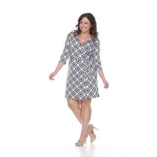 Women's 'Mariah' Batik Wrap Dress