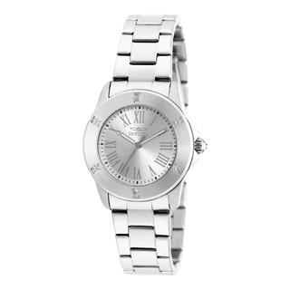 Invicta Women's 19255 Angel Quartz 3 Hand Silver Dial Watch