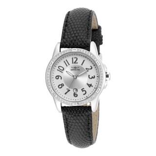 Invicta Women's 16340 Angel Quartz 3 Hand Silver Dial Watch
