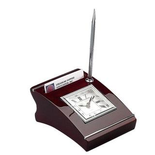 Elegance Wood Clock with Cardholder