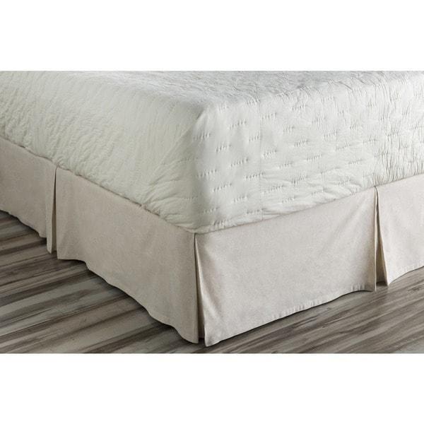 Shelia Floral Ivory Linen/ Cotton Bedding Skirt