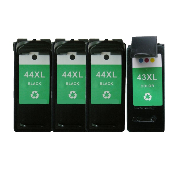 4PK 18Y0143 (#43) x3 18Y0144 (#44) Compatible Ink Cartridge For Lexmark X4850 X4875 ( Pack of 4 )