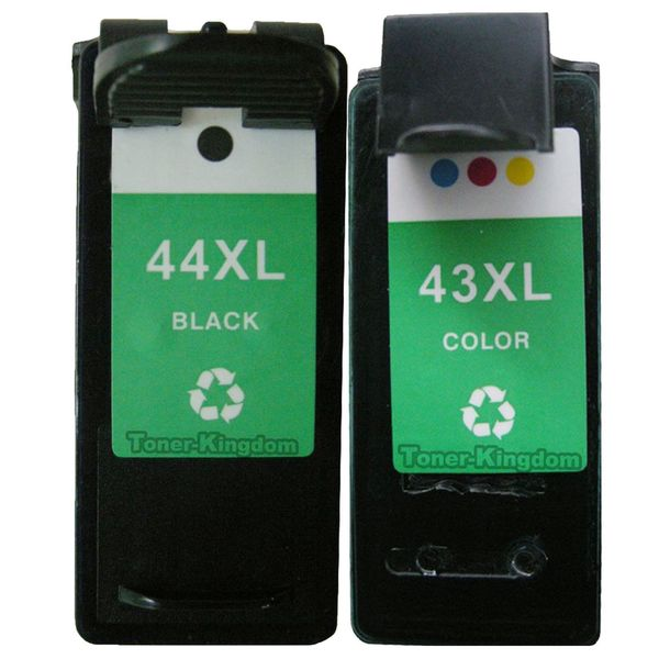 2PK 18Y0143 (#43) 18Y0144 (#44) Compatible Ink Cartridge For Lexmark X4850 X4875 ( Pack of 2 )