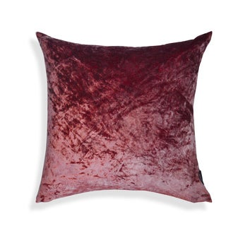 Marsala Viscose Velvet 20-inch Solid Cushion