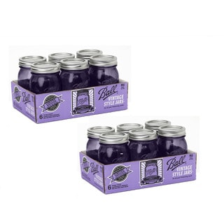 Ball Heritage Collection Purple Pint Regular Mouth Jars - 12 jars