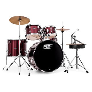 MAPEX REBEL 5PC with HDWR/CYMBLS 22/10/12/16FT/5X14 RED