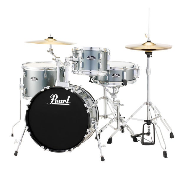 Pearl Roadshow RS584 4-Piece Drumset with Hardware and Cymbals - Charcoal