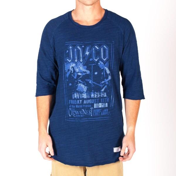 JNCO Men's 3/4-Sleeve Indigo Concert Tee