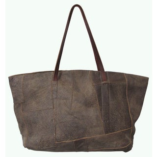 Amerileather Oversize Raw Handbag