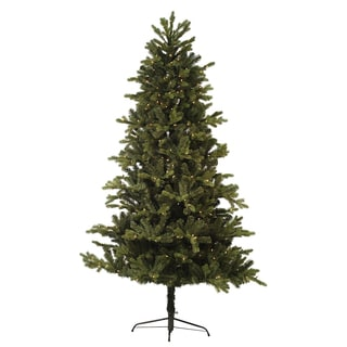 6.5-foot Pre-lit Greenwood Artificial Christmas Tree