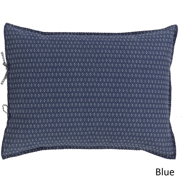 Brenda Dot Blue Reversible Cotton/Flax Sham