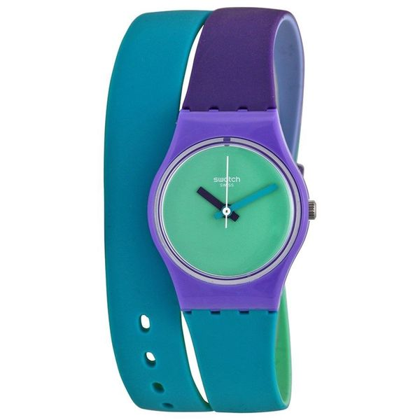 Swatch Women's LV117 'Fun in Blue' Blue Silicone Watch