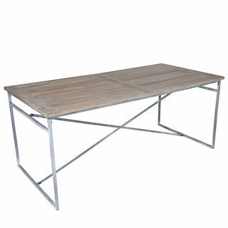angelo:HOME Greenwich Wood and Metal Dining Table/Desk