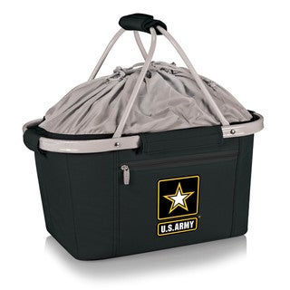 Picnic Time Metro Basket - Black (U.S. Army)