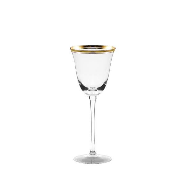 Windsor White Wine with Gold Band Set of 4