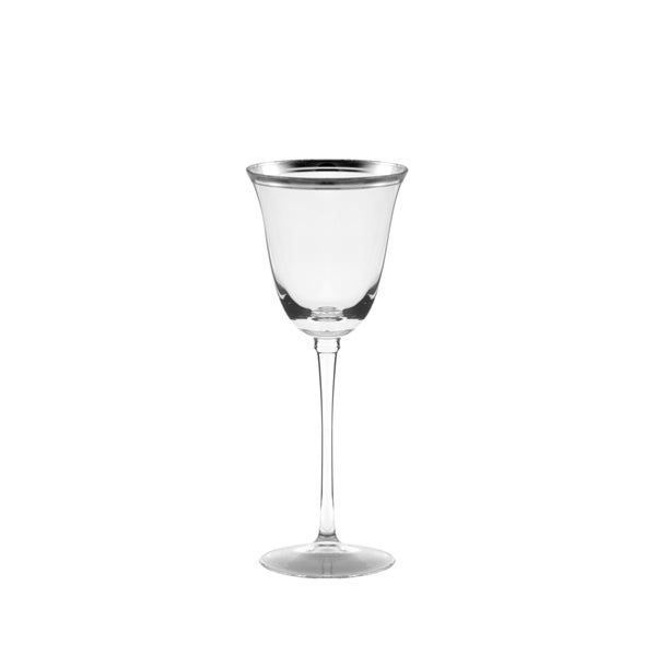 Windsor White Wine with Silver Band Set of 4