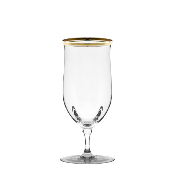 Windsor Water Goblet with Gold Band Set of 4