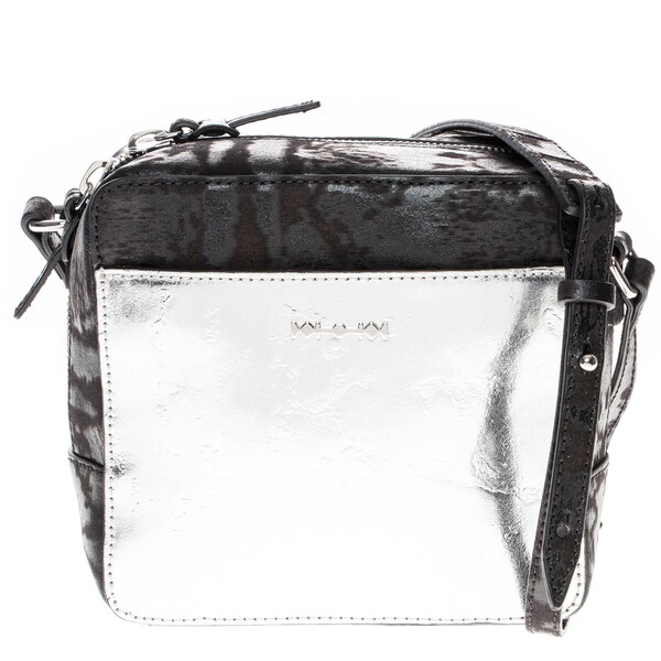 Alexander McQueen Metallic Leather Crossbody Bag