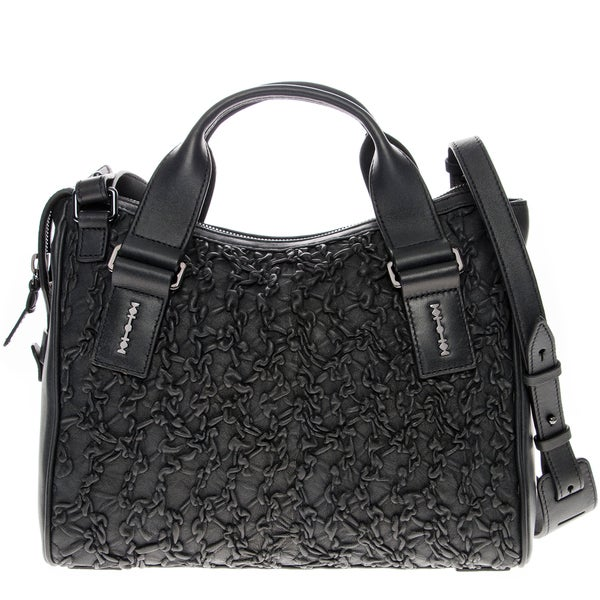 Alexander McQueen Ruched Leather Satchel