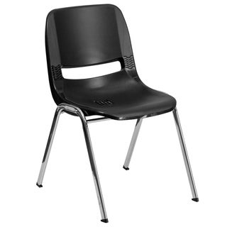 Hercules Series 661-pound Capacity Ergonomic Shell Stack Chair Withframe and 16-inch Seat Height