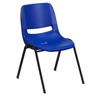 Hercules Series 661-pound Capacity Ergonomic Shell Stack Chair with Frame and 16-inch Seat Height