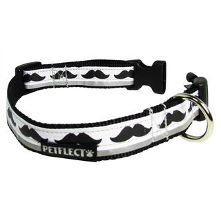 Petflect Mustache Reflective Dog Collar