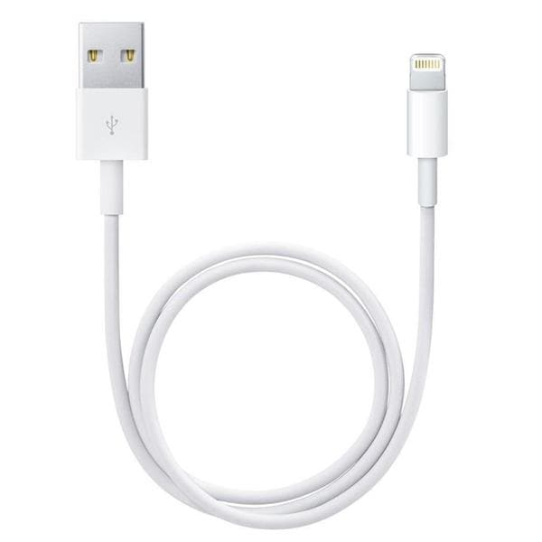 Apple 1m Lightning-to-USB Data Cable, White for iPhone 5/5c/5s/6/6 Plus/6s/6s Plus
