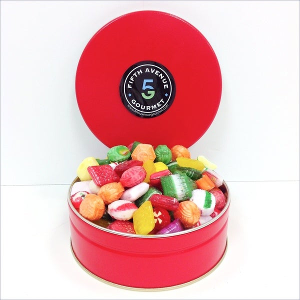 Old Fashion Candy in a Holiday Tin
