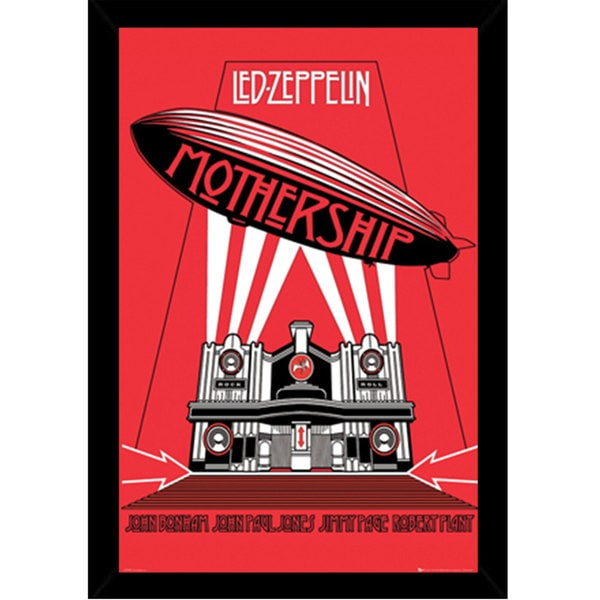 Led Zeppelin Mothership Print (24-inch x 36-inch) with Contemporary Poster Frame