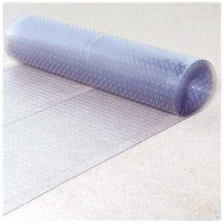 Ottomanson Multi Grip Ribbed Clear Runner Rug Carpet Protector Mat (6,10,12 foot length)