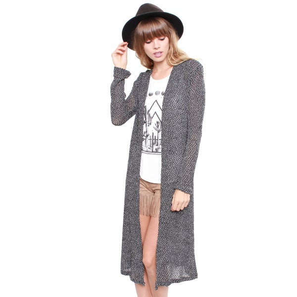 Junior's Charcoal Duster Cardigan 68071