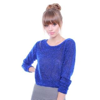 Junior's Chic Crop Sweater Top