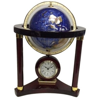 Elegance Large Globe Wood Clock