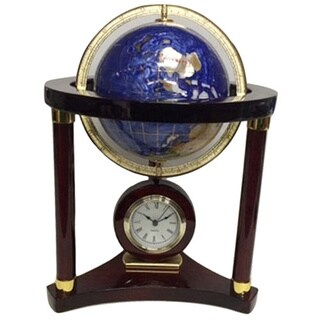 Elegance Large Globe Wood Clock
